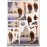 Craft Creations Natale 3d Decoupage–dcd616Natale Walk–Romance Albero di Natale Neve Step by Step, formato A4, 210x 297mm
