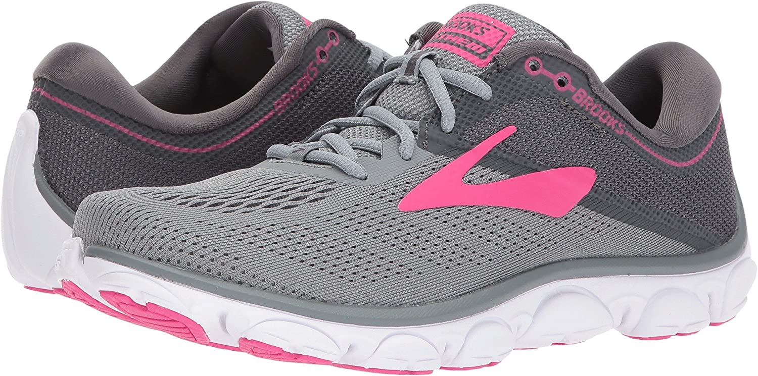 Brooks Womens Anthem B071HF9Z63 9.5 B(M) US|Grey/Ebony/Pink