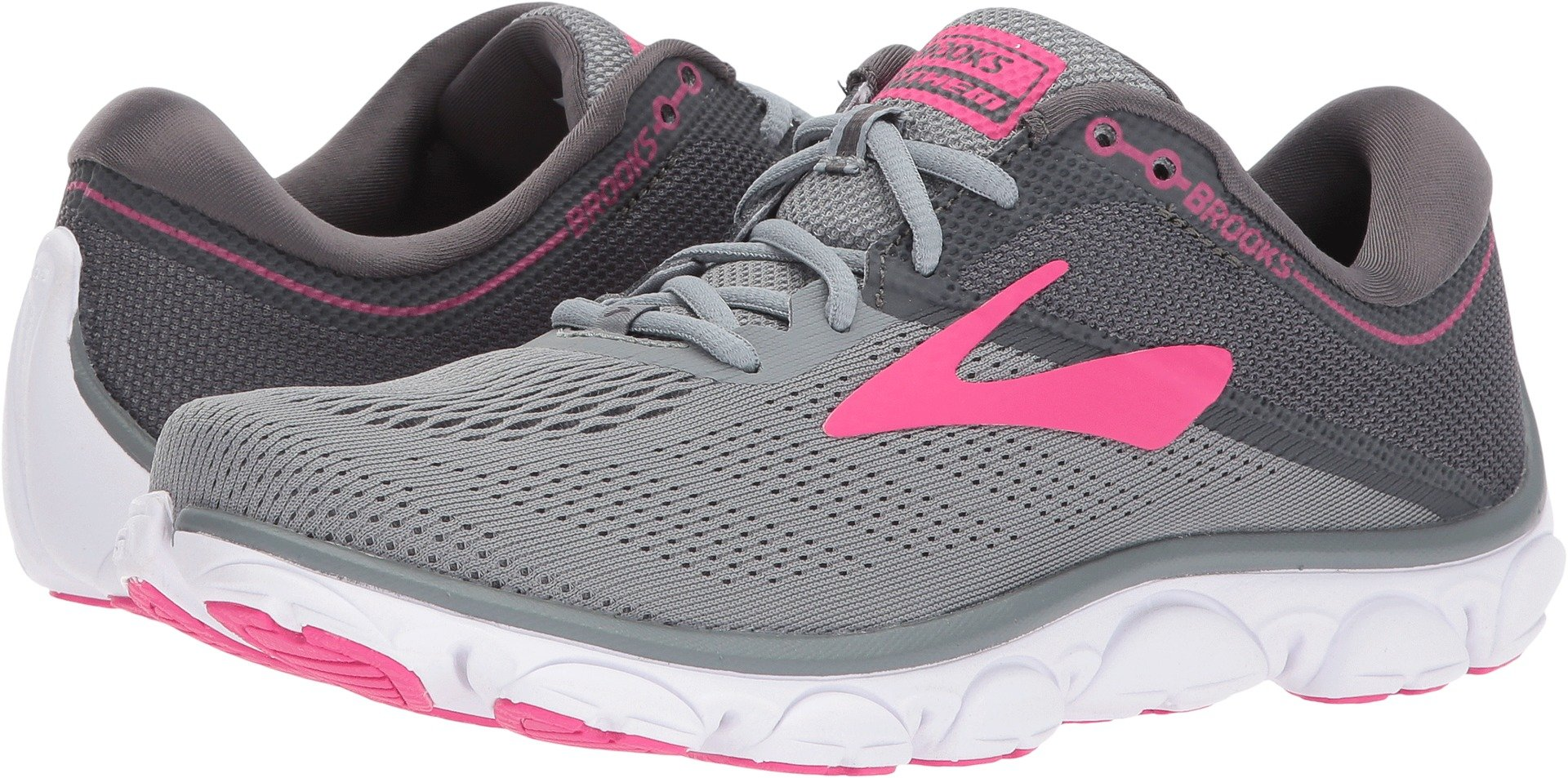 Brooks Women's Anthem Grey/Ebony/Pink 7 B US