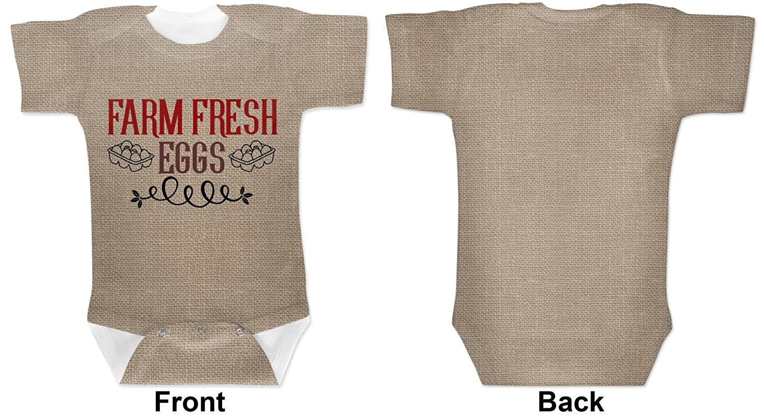 Amazon.com: RNK Shops Farm Quotes Baby Onesie (Personalized) Brown: Clothing