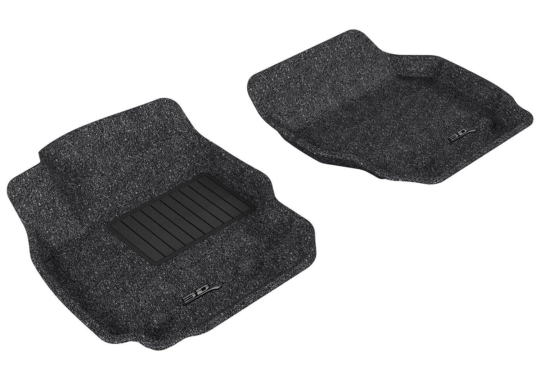 3D MAXpider Front Row Custom Fit Floor Mat for Select Volvo S80 Models Tan Classic Carpet