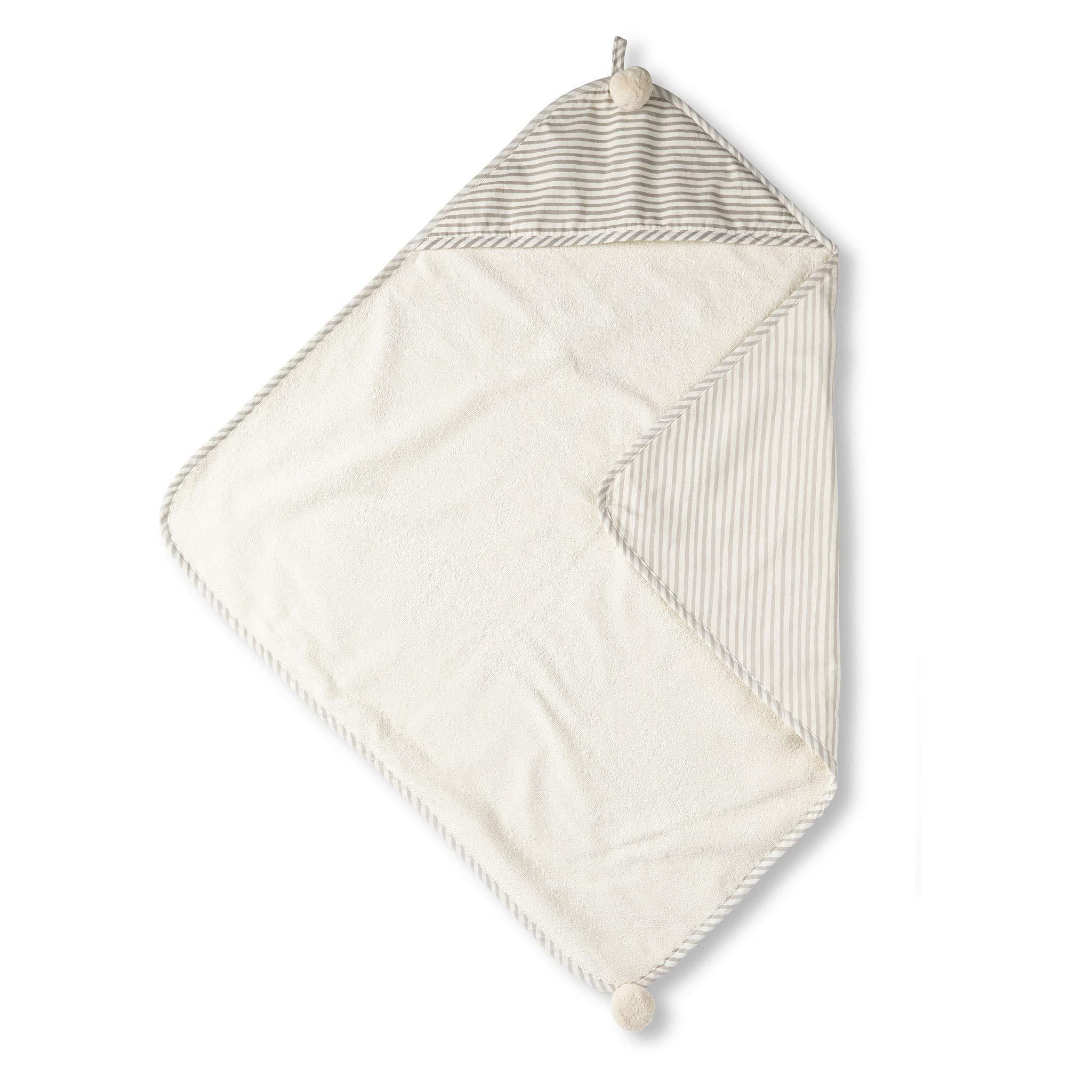 Pehr Stripes Away Hooded Towel - Pebble, Multi by PEHR
