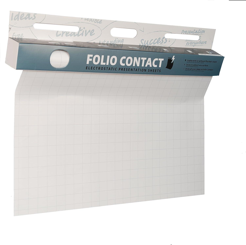 Folio Contact - Fogli elettrostatici per lavagna a fogli mobili, aderiscono a quasi tutte le superfici NOPAR International GmbH 25 Blatt / Sheet 60x80cm