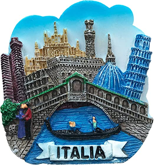 im/án para Nevera Wedare Pisa Italia im/án de Metal 3D para Nevera Recuerdos de Viaje decoraci/ón del hogar y Cocina colecci/ón de Pegatinas magn/éticas