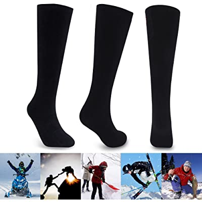 Electric Heated Socks for Men Thermal Socks Rechargeable Battery Foot Warmers Winter Ideal Presents for Men Women Perfect for Indoor Outdoor Sport Fishing/Hiking/Sleeping