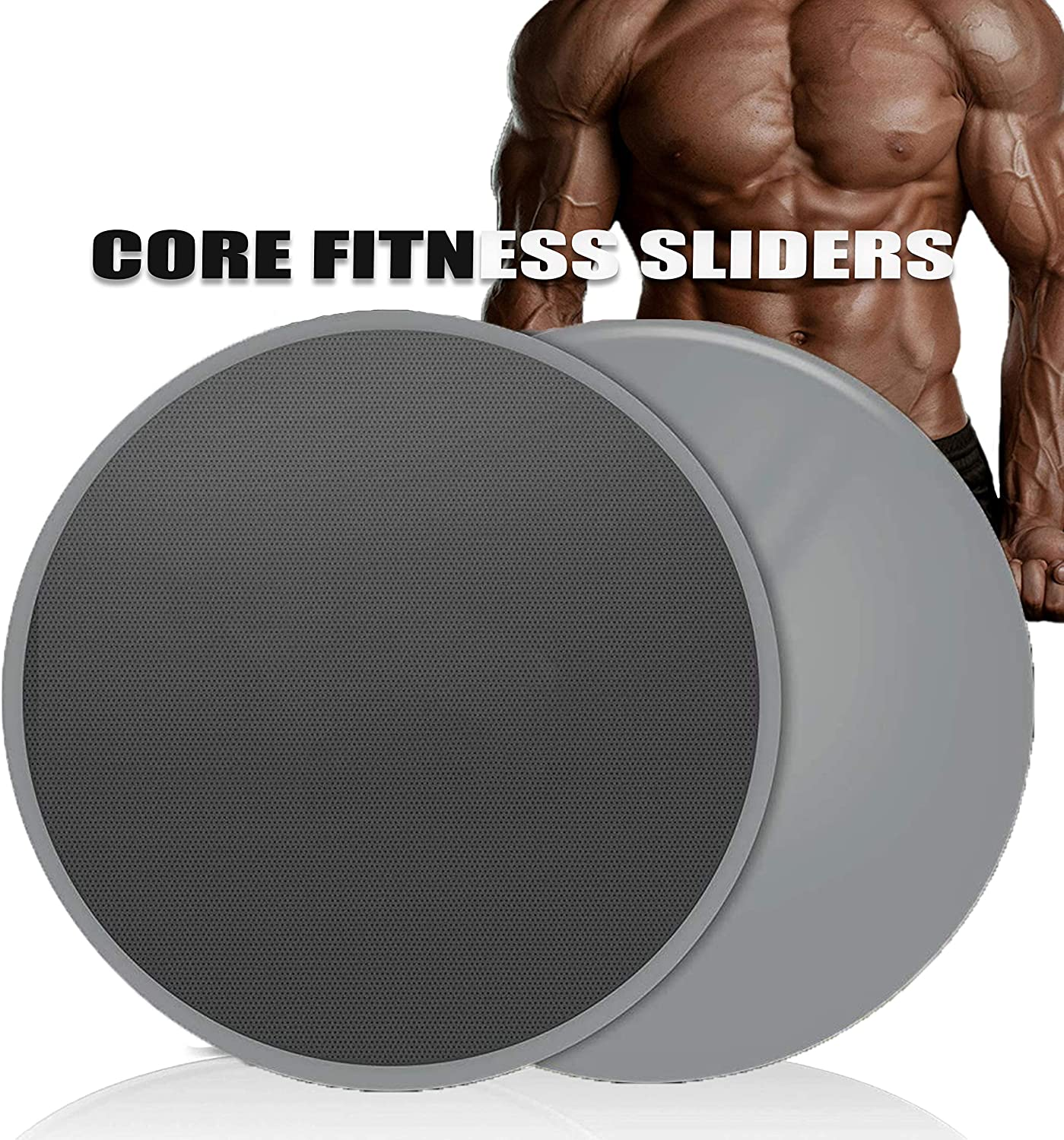 Tripsky Fitness Exercise Core Sliders,Workout Equipment at Home,Double Sided Gilder Strength Slides Discs Work Smoothly Perfect for Stretch Strength Abdominal Core Exercise (Set of 2)