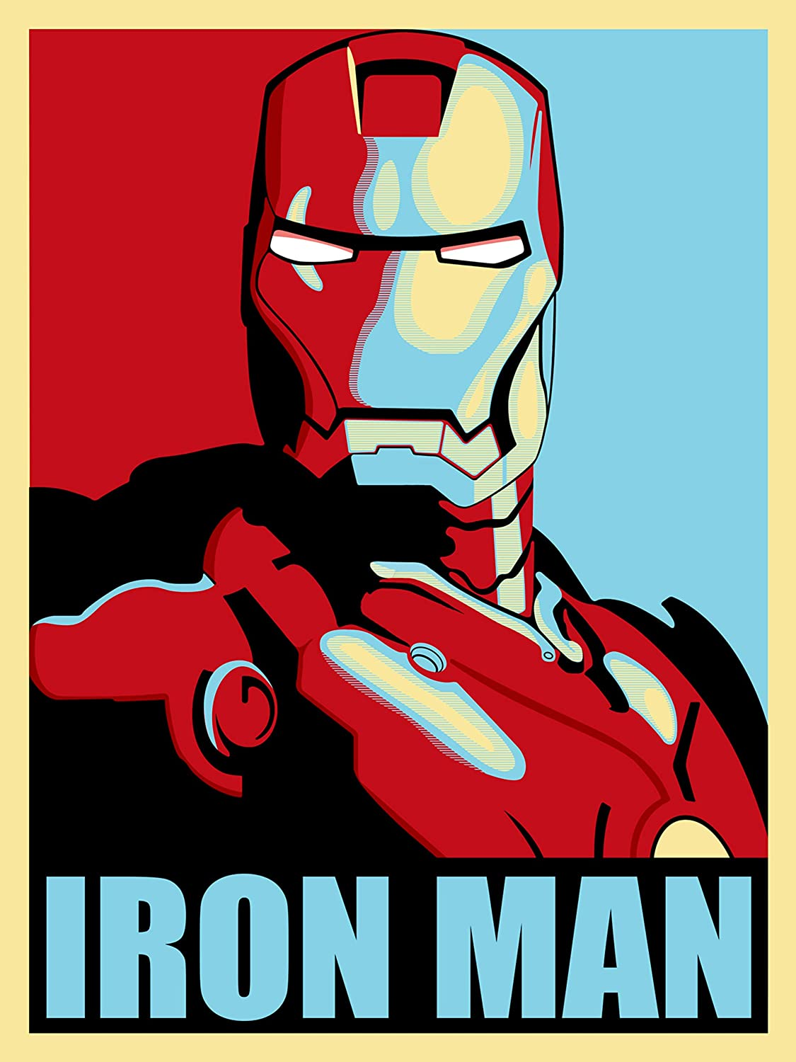 LLp Iron Man Poster Size 18-Inches by 24-Inches Wall Poster Print