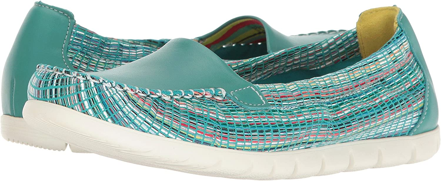 SAS Womens Sunny B01N4IKXBC 8 WW - Double Wide (D) US|Turquoise/Rainbow