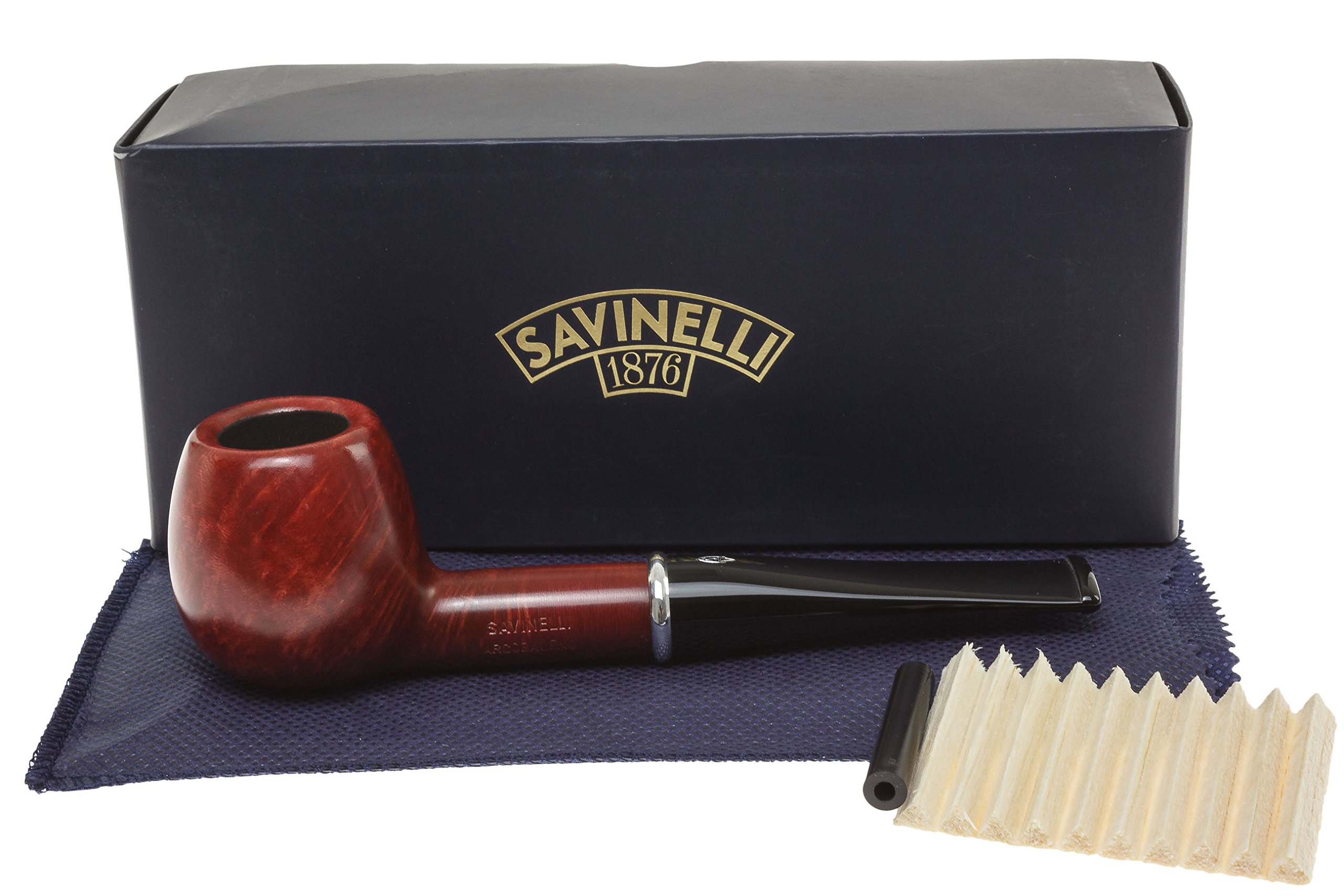 Savinelli Arcobaleno 207 Red Tobacco Pipe - Smooth
