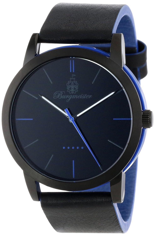 Burgmeister BM523-623A-1 - Reloj analógico de Cuarzo para Hombre con Correa de Silicona, Color Negro
