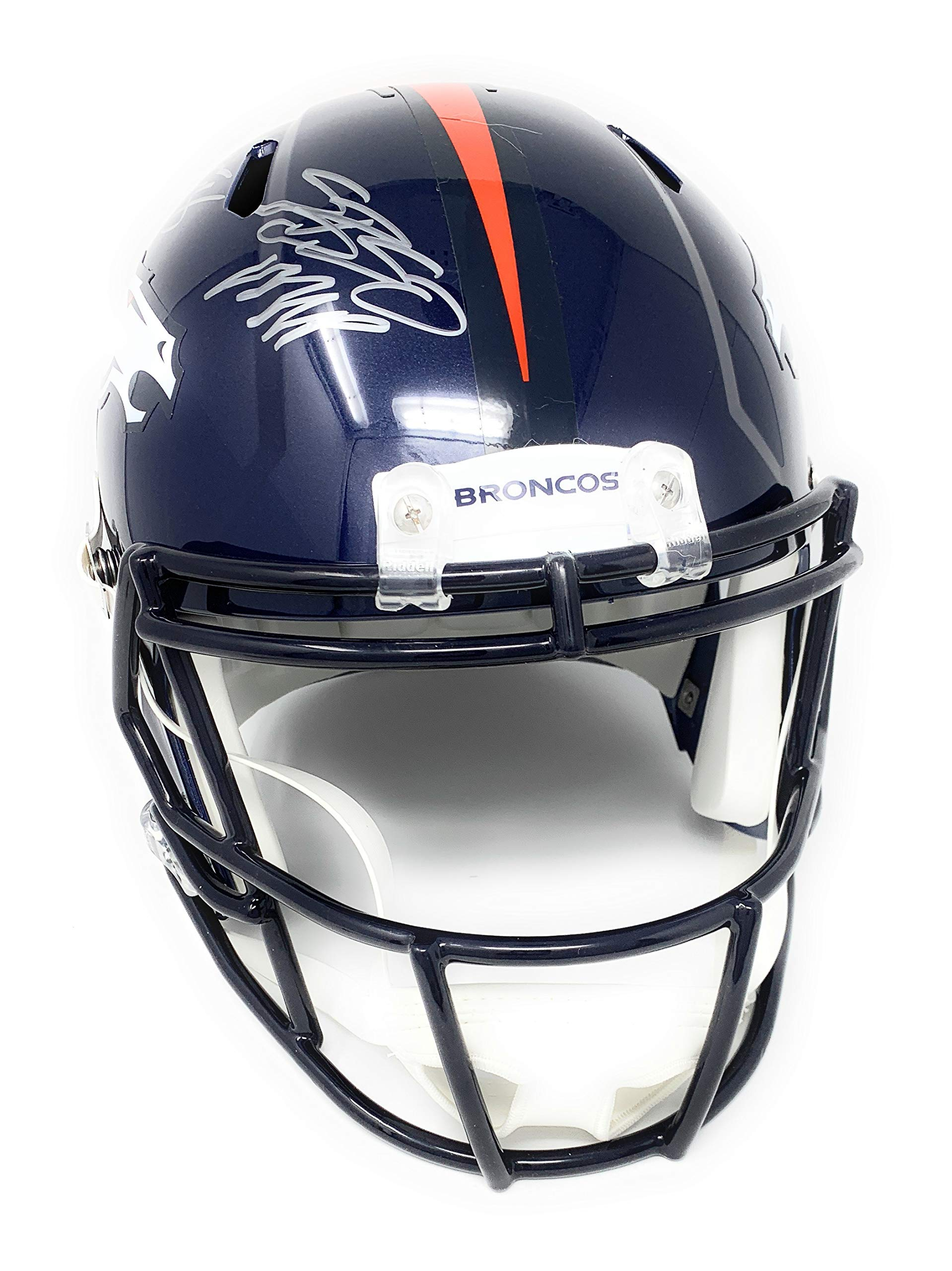 Von Miller Denver Broncos Signed Autograph Speed Full Size Helmet SB 50 MVP INSCRIBED JSA Certified