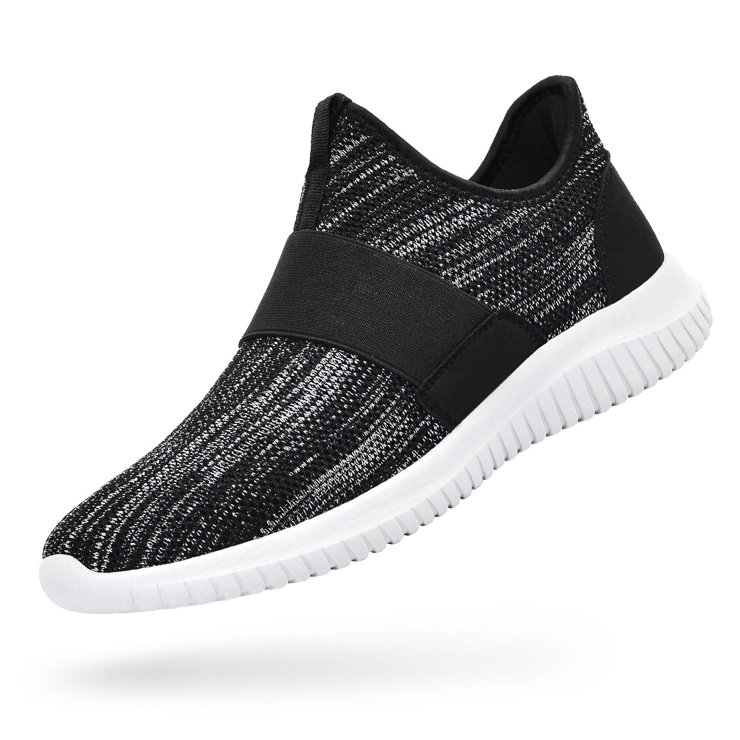 Troadlop Womens Sneakers Lightweight Breathable Mesh Slip On Casual Tennis Shoes Athletic Walking Running Sneakers B07D8VW8VK 6.5 M US|Black-gray