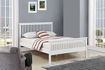 Ideal Furniture Howard White Wooden Bed Frame King Size Amazon Co