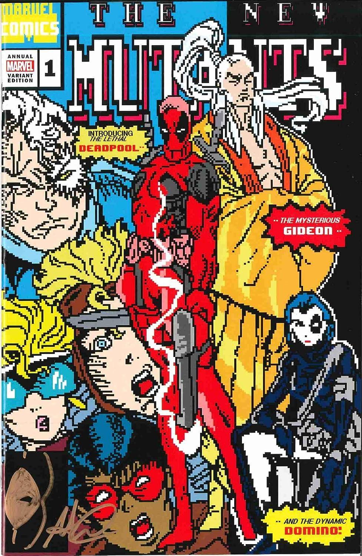 Matthew Waite Signed New Mutants #98 Homage 8-bit Cover W/Remark! (The Cowboy House COA)