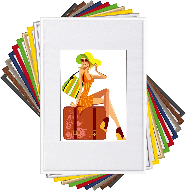 WOLTU Cadre Photo Blanc Lot de 15 pi/èces avec Passe-Partout pour Image 10x15cm,New Life Style BR9857ws-15-a