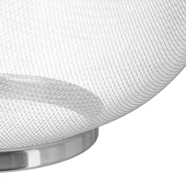 Apto para lavavajillas Asas y Base Redonda 26 cm /Ø Pasta Plateado Relaxdays Colador Escurridor con Malla Fina Acero Inoxidable plata