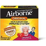 Airborne 草莓味VC泡腾片,30片,1000毫克维生素C