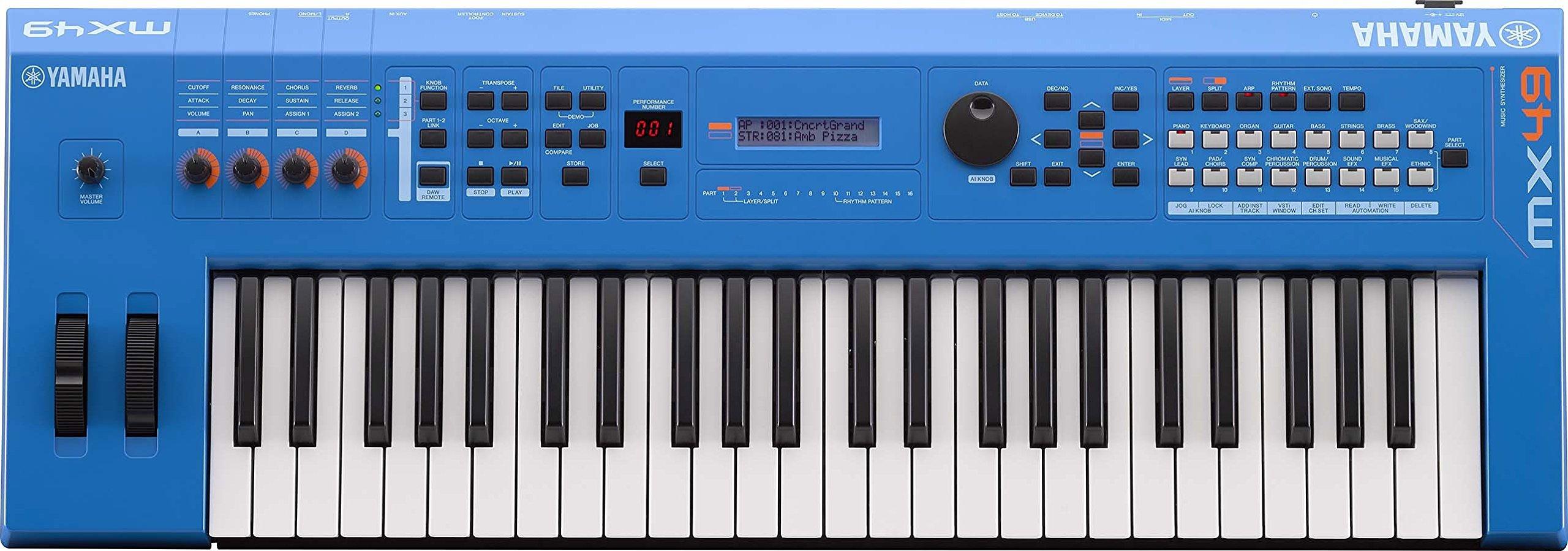 Yamaha MX49 Music Production Synthesizer, Blue by YAMAHA