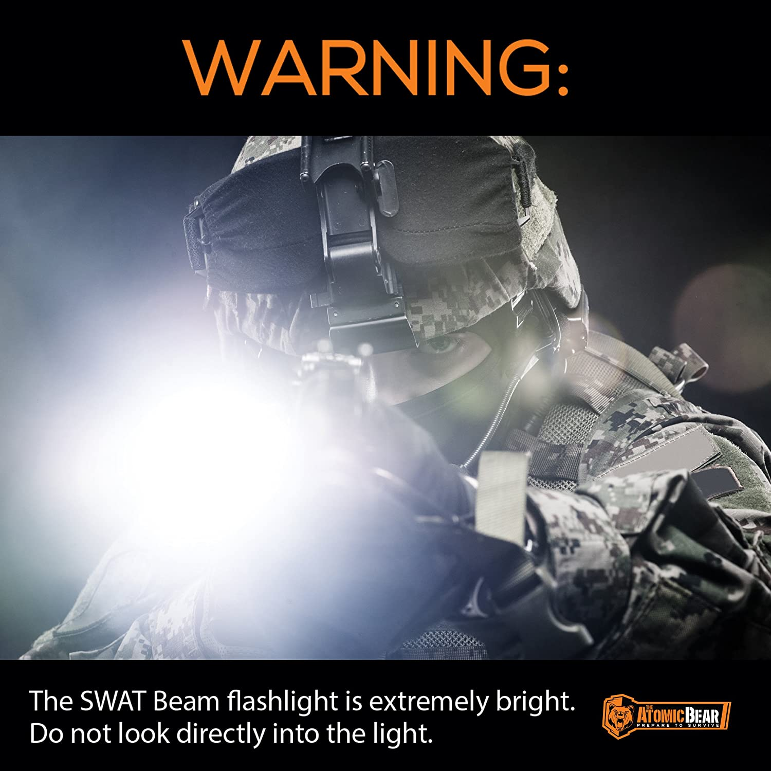 amazon com swat tactical led flashlight small and powerful