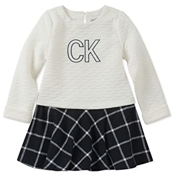 f475eb192 Amazon.com: Calvin Klein Baby Girls Dress-Quilted: Clothing