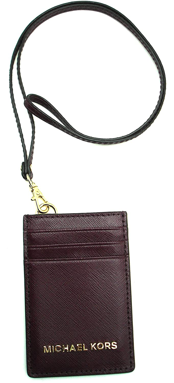 4431587b64c02 Michael Kors Jet Set Travel Lanyard ID Card Case Leather Plum  Amazon.co.uk   Luggage