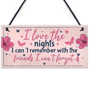 Amazon.com: Divertida señal de amistad regalo mejor amigo ...