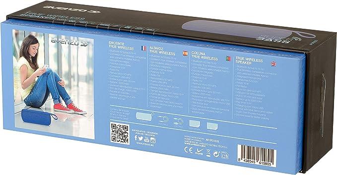 Avenzo Altavoz 10W True Wireless FM-MP3 Azul (AV-SP3102): Amazon.es: Electrónica