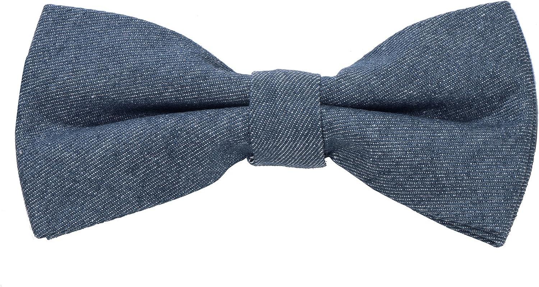 DonDon Pajarita de algodón para hombre de 12 x 6 cm ajustable y lista para usar