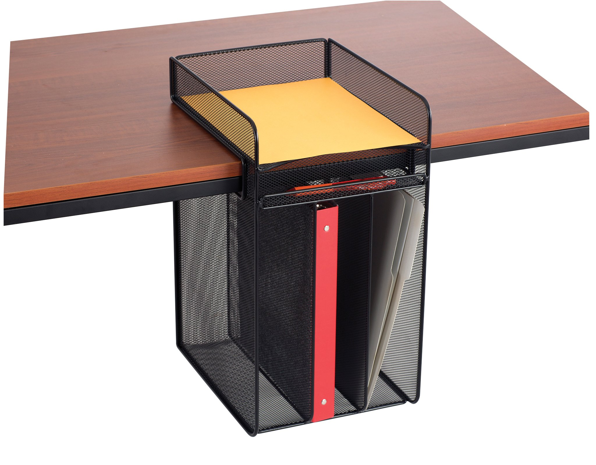 Safco Products 3241BL Onyx Mesh Vertical Hanging Desk Storage, Black by Safco Products