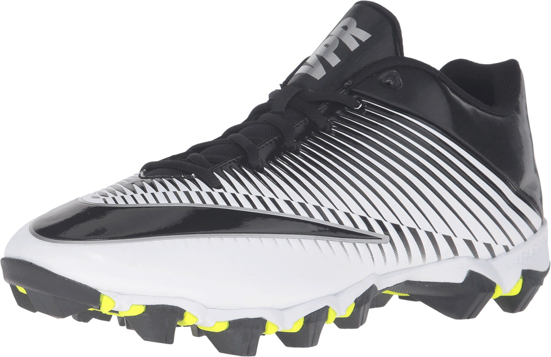 Nike Men's Vapor Shark 2 Football Cleat White/Metallic Silver/Black Size 8.5 M US