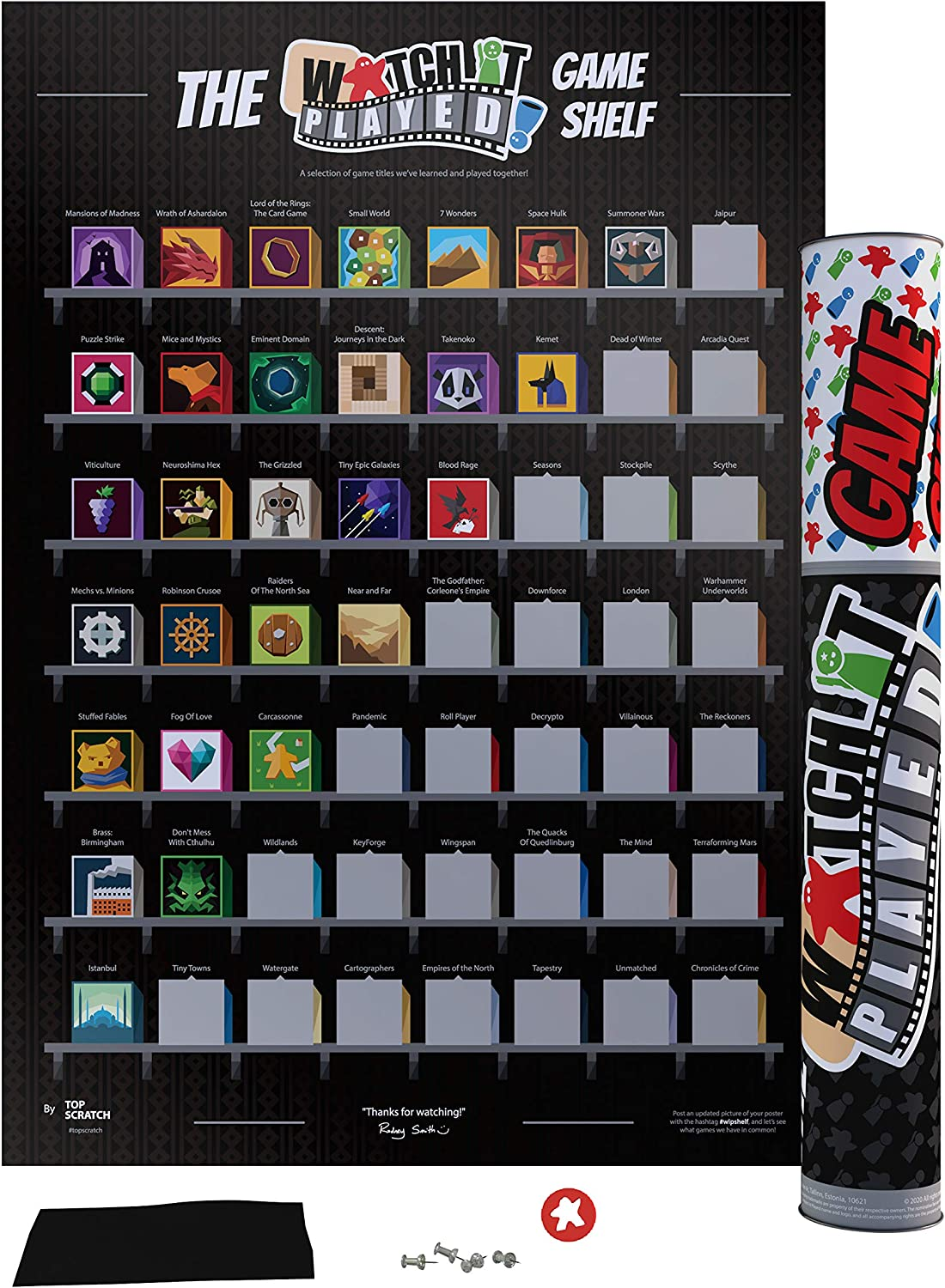 Top Scratch The Watch It Played Game Shelf Scratch Poster (16.5