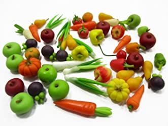 Dollhouse Miniature Food Lot 50 Garlic Vegetable Supply Art Deco Jewelry 10046