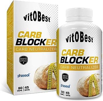 Bloqueador Carbohidratos CARB BLOCKER 90 Caps. - Producto de Calidad Optima y Quemagrasas Potente para Adelgazar - Vitobest