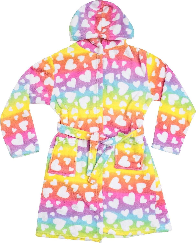 Just Love Hooded Plush Fleece Robe for Girls 75603-10421-14-16: Clothing