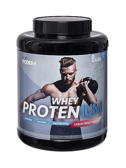 Whey Protenium fresa y nata | Proteína de suero de leche + vitamina B6 + papaína