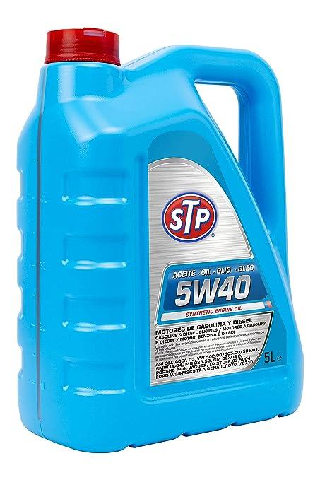 STP 5W40 - Aceite para Motores Gasolina y Diesel (API SN, ACEA C3)