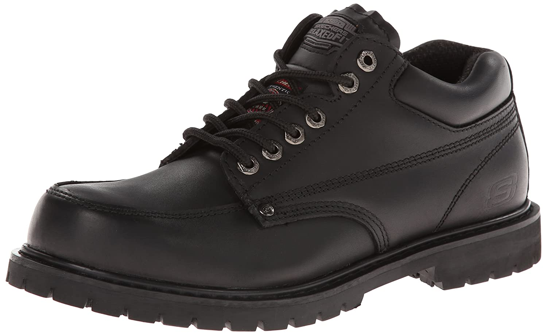 Skechers For WorkメンズCottonwood滑り止め作業靴 B00ENRMQDU 7.5|ブラック ブラック 7.5