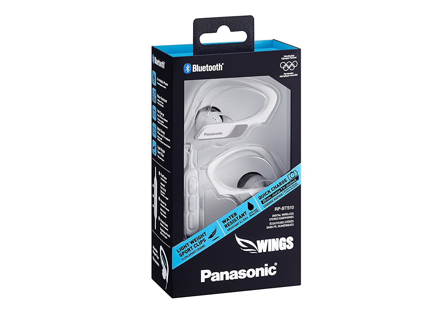 Panasonic Wings RP-BTS10-W - Auriculares Deportivos In-Ear con Bluetooth, Blanco: Amazon.es: Electrónica