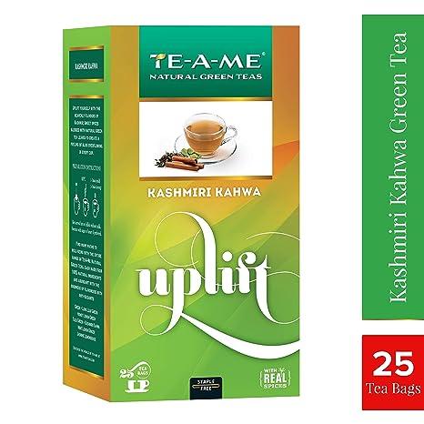 TE-A-ME Kashmiri Kahwa Green Tea, 25 Tea Bags Green Tea at amazon