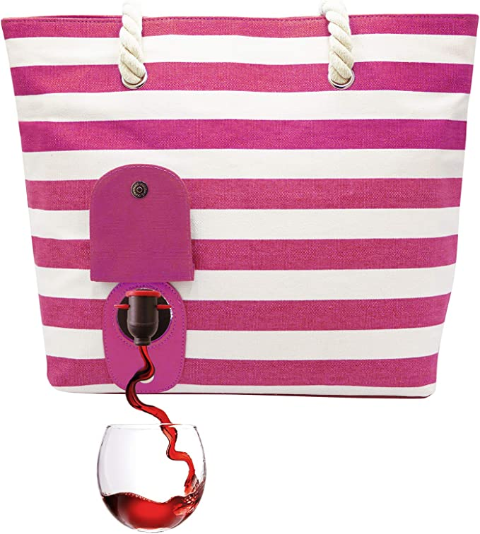 Tote Bag With Wine Pouch