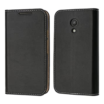 online store 69c02 d0b26 Motorola Moto G 2nd Gen Case, Coodio Genuine Leather Case, Motorola Moto G  2nd Gen Wallet Case, Classic Flip Case Cover with Stand Function, Card ...
