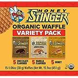 Honey Stinger Waffle Variety Pack, Honey/Vanilla/Chocolate, 15 Count