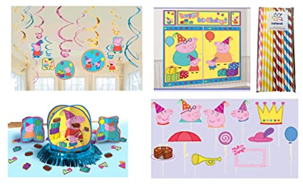Amazon.com: Peppa Pig Kit de decoración para fiesta de ...