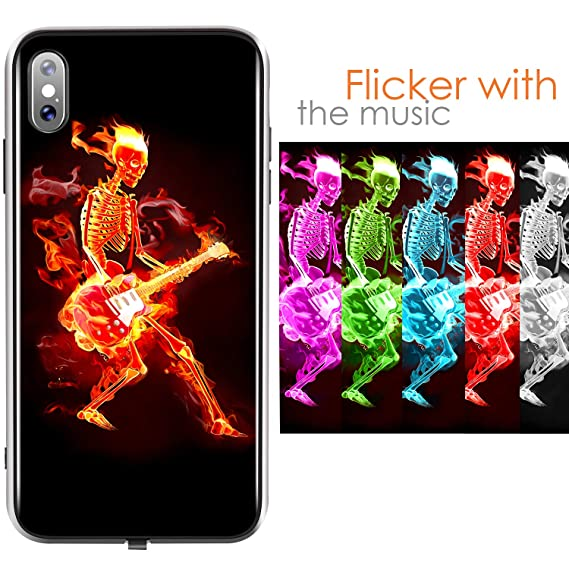 iphone xs case led