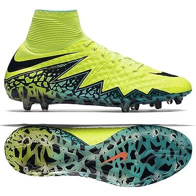 Nike Mens Hypervenom Phantom Ii Fg Volt/Black Hyper/Turq Clr Jade Soccer  Shoes