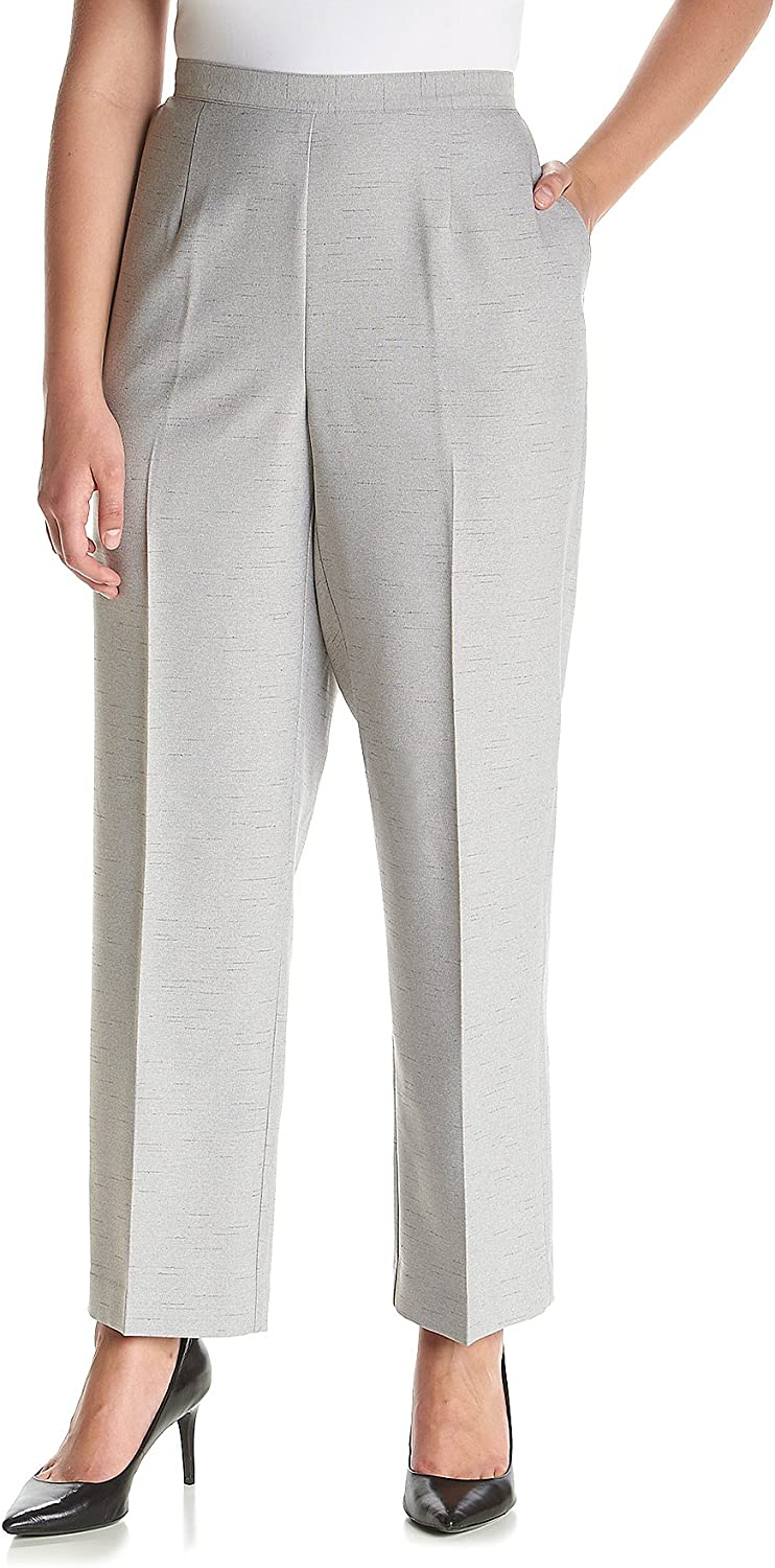 Alfred Dunner Womens Plus-Size Pull-On Med Pant