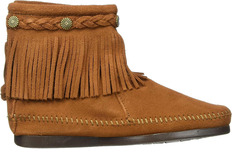 Minnetonka Hi Top Back Zip Boot, Botas para Mujer Marrón Brown Kp8pe