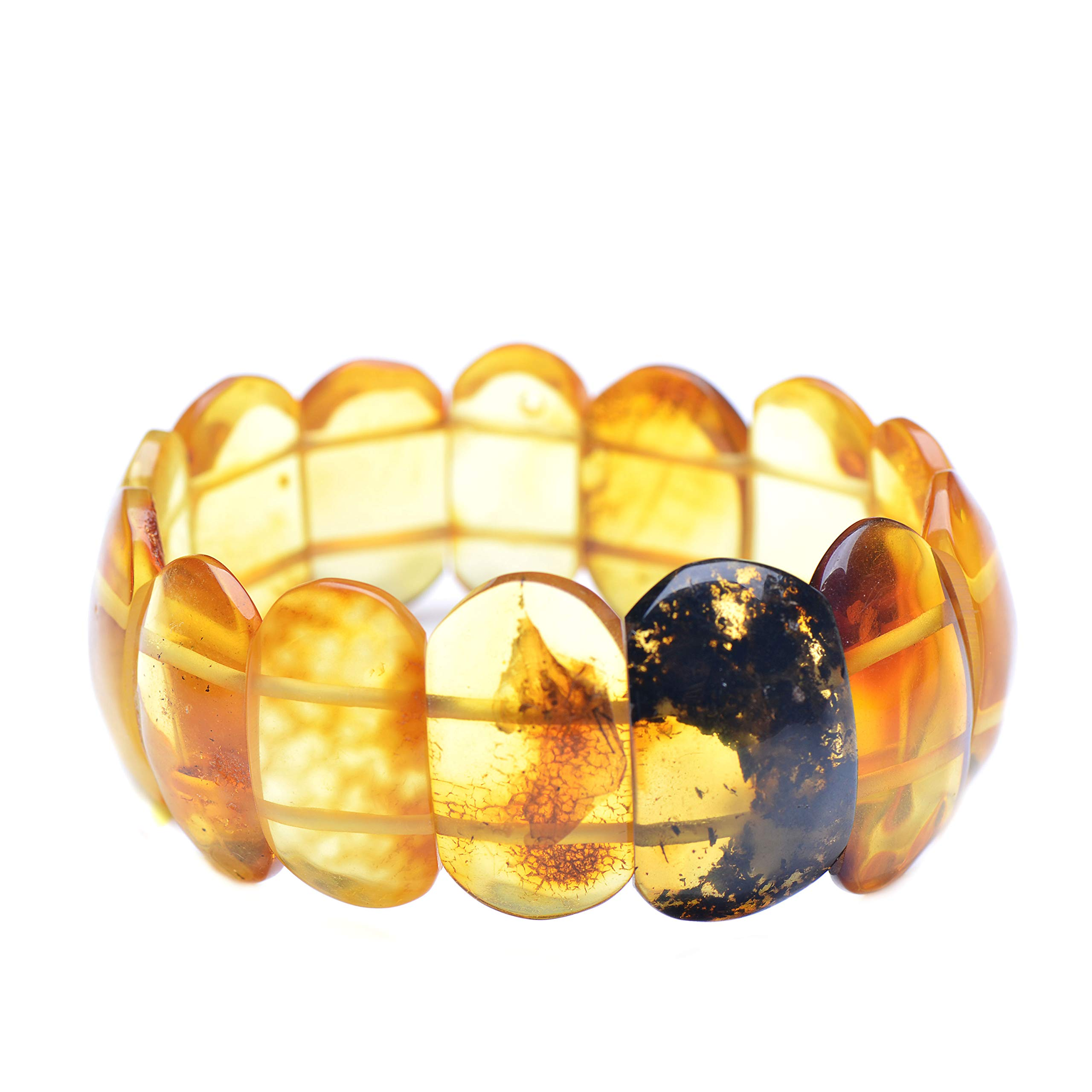 Amber Bracelet - Bright Amber Bracelet - Exclusive Amber Bracelet - Unique Bracelet - Unique Amber Bracelet - Genuine Baltic Amber by Genuine Amber