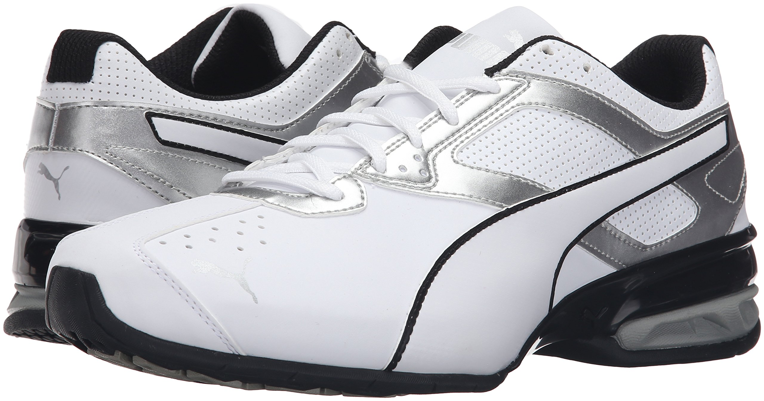 98c52f9c335 PUMA Men s Tazon 6 FM Puma White  Puma Silver Running Shoe - 10.5 D(M) US -  18987301-100   Road Running   Clothing