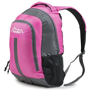 Andes 25 Litre Bright Pink Rucksack Backpack for  Camping Hiking Travel School 1cc604180159e